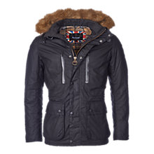 Buy Barbour International Struts Waxed Jacket, Black Online at johnlewis.com
