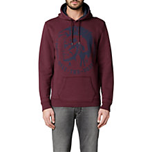 Buy Diesel Agnes Graphic Hoodie, Burgundy Online at johnlewis.com