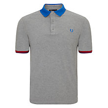 Buy Fred Perry Colour Block Pique Polo Shirt Online at johnlewis.com