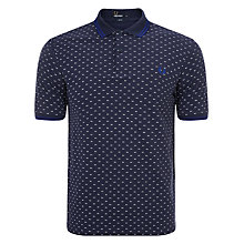 Buy Fred Perry Twin Tip Print Polo Shirt, Dark Carbon Online at johnlewis.com