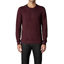 Buy Diesel Maniky Crew Neck Jumper, Burgundy Online at johnlewis.com