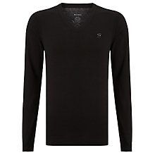 Buy Diesel Maniky Crew Cotton Mix Jumper, Black Online at johnlewis.com