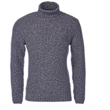 Buy Barbour International Edderton Polo Neck Jumper, Storm Grey Online at johnlewis.com