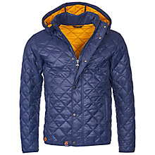 Buy Barbour Pillar Quilt Jacket, Navy Online at johnlewis.com
