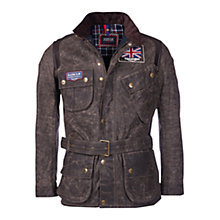 Buy Barbour International Triumph Waxed Jacket, Hickory Online at johnlewis.com