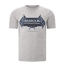 Buy Barbour International Flags T-Shirt, Grey Marl Online at johnlewis.com