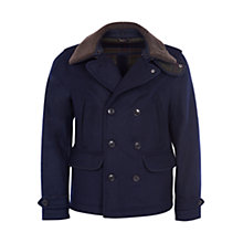 Buy Barbour Penston Wool Coat, Navy Online at johnlewis.com