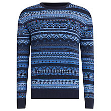 Buy Barbour Laundryman Harvey Laundered Crew Neck Jumper, Deep Blue Online at johnlewis.com