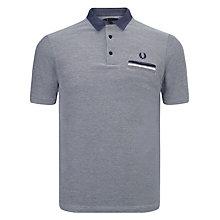 Buy Fred Perry Woven Oxford Polo Shirt, Dark Carbon Online at johnlewis.com