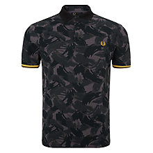 Buy Fred Perry Camouflage Polo Shirt, Khaki Green Online at johnlewis.com