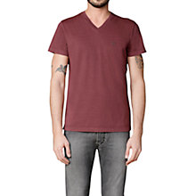 Buy Diesel T-Patapios T-Shirt, Burgundy Online at johnlewis.com