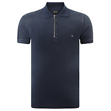 Buy Diesel T-ukyo Zip Cotton Polo Shirt, Navy Online at johnlewis.com
