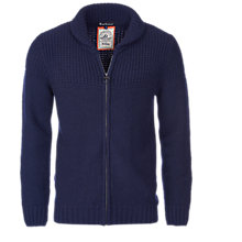 Buy Barbour Bancroft Lambswool Full Zip Cardigan, Navy Online at johnlewis.com