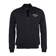 Buy Barbour International Rowhill Full Zip Merino Wool Jersey Top, Charcoal Online at johnlewis.com