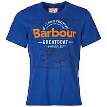 Buy Barbour Map Print T-Shirt, Inky Blue Online at johnlewis.com