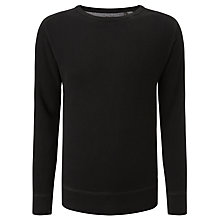 Buy Diesel Erastos Waffle Panel Cotton Sweatshirt, Black Online at johnlewis.com