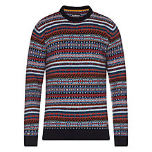 Buy Barbour Martingale Wool Jumper, Navy Multi Online at johnlewis.com