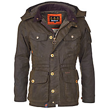 Buy Barbour Latrigg Waxed Jacket, Olive Online at johnlewis.com