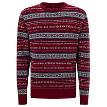 Buy Barbour Laundryman Harvey Laundered Crew Neck Jumper, Merlot Online at johnlewis.com