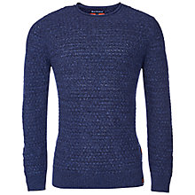 Buy Barbour Copeland Wool Crew Neck Jumper, Navy Online at johnlewis.com