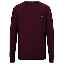 Buy Fred Perry Textured Crew Neck Jumper Online at johnlewis.com