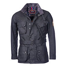 Buy Barbour International Triumph Rocket Wax Jacket, Black Online at johnlewis.com