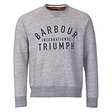 Buy Barbour International Triumph Magneto Sweatshirt, Slate Grey Online at johnlewis.com