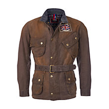 Buy Barbour International Triumph Legend Wax Jacket, Hickory Online at johnlewis.com