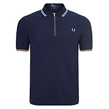 Buy Fred Perry Twin Tip Zip Polo Shirt Online at johnlewis.com