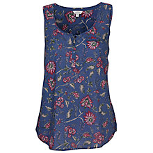 Buy Fat Face Caitlyn Indian Garden Cami, Dark Chambray Online at johnlewis.com