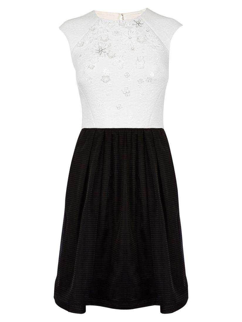 karen millen 3d flower embroidered dress black / white, karen, millen, flower, embroidered, dress, black, white, karen millen, 6|16|14|10|8|12, women, womens dresses, new in clothing, 1929845