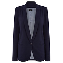 Buy Oasis Lightweight Jersey Jacket, Navy Online at johnlewis.com
