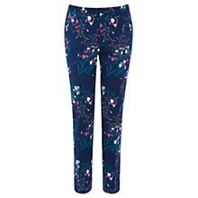 Buy Oasis Iris Print Structured Trousers, Multi Online at johnlewis.com