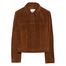 Buy Mango Suede Jacket, Dark Brown Online at johnlewis.com