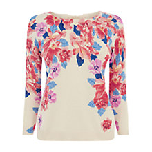 Buy Oasis Photo Floral Jumper, Off White/Multi Online at johnlewis.com