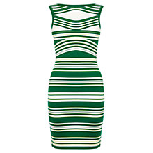 Buy Karen Millen Stripe Knitted Dress, Green Online at johnlewis.com