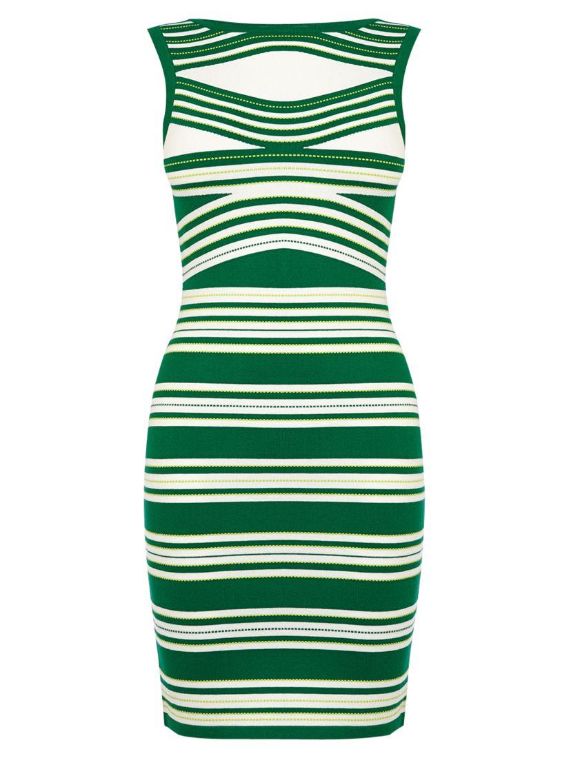 karen millen stripe knitted dress green, karen, millen, stripe, knitted, dress, green, karen millen, 1|2|3|4, women, womens dresses, gifts, wedding, wedding clothing, female guests, 1931352