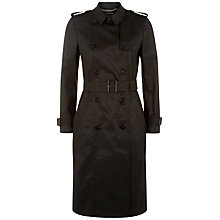 Buy Jaeger Double Breasted Trench Coat, Black Online at johnlewis.com