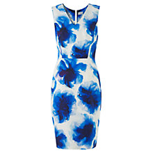 Buy Jigsaw Floral Dress, Blue Online at johnlewis.com