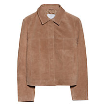 Buy Mango Suede Jacket, Light Beige Online at johnlewis.com
