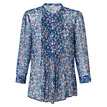 Buy Jigsaw Silk Spring Bloom Blouse, Multi Blue Online at johnlewis.com