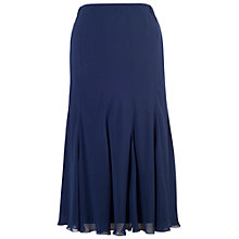 Buy Chesca Chiffon Panel Skirt, Navy Online at johnlewis.com