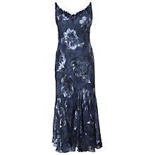 Buy Chesca Dusk Floral Applique/Bead Trim Devoree Dress, Navy Online at johnlewis.com