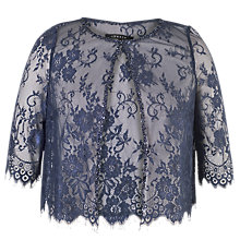Buy Chesca Lace Jacket, Navy Online at johnlewis.com