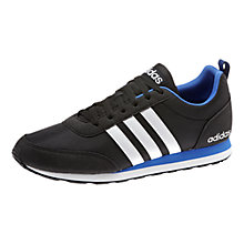 Buy Adidas V Run Trainers, Black/White Online at johnlewis.com