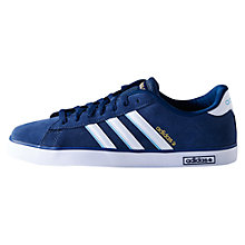Buy Adidas Derby Suede Trainers, Blue/White Online at johnlewis.com