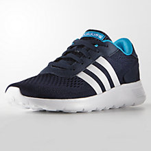 Buy Adidas Lite Racer Engineered Trainers, Navy Online at johnlewis.com