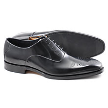 Buy Loake Howard Leather Brogue Oxford Shoes, Black Online at johnlewis.com