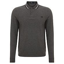 Buy Fred Perry Twin Tipped Long Sleeved Polo Shirt Online at johnlewis.com