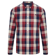 Buy Fred Perry Winter Twill Check Shirt, Rosso Online at johnlewis.com